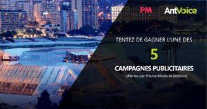 Campagne publicitaire offertes par Prisma Média et AntVoice