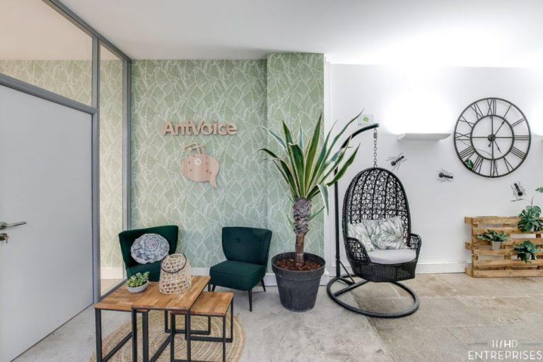 Image nouveaux locaux d'AntVoice, le hall