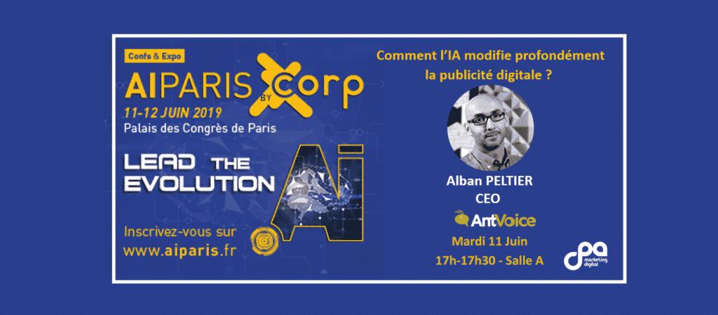 Bannière l'IA modifie la pub digitale, AI PARIS